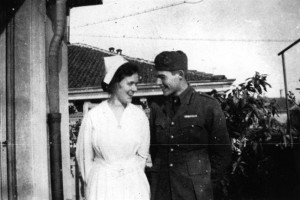 Agnes Von Kurowsky And Ernest Hemingway  1918 300x200