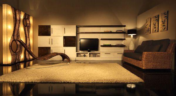 Soggiorno marrone e verde idee per il design della casa for Design della casa verde