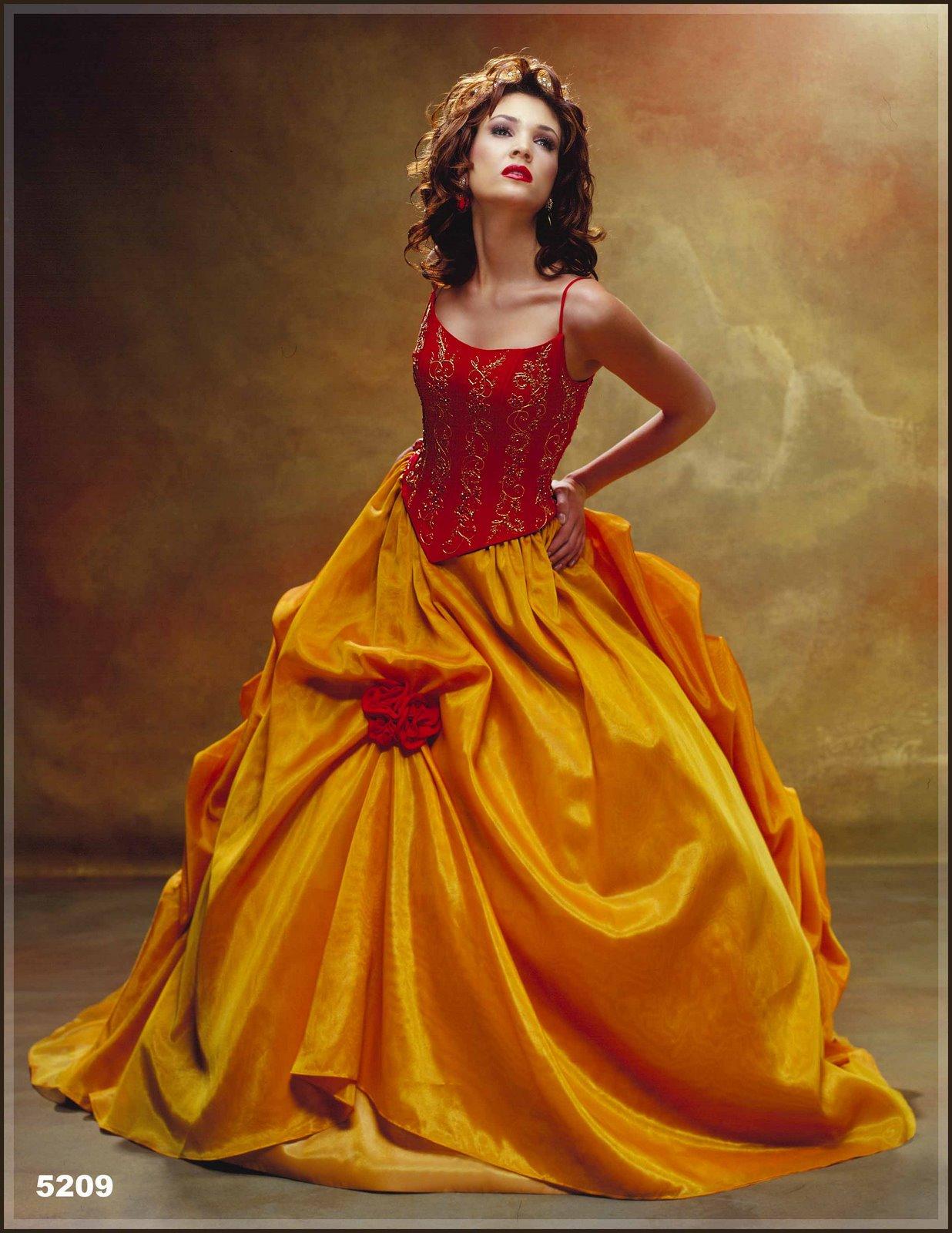 Abito da sposa arancione