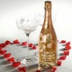 Bottiglia di champagne decorata per matrimoni