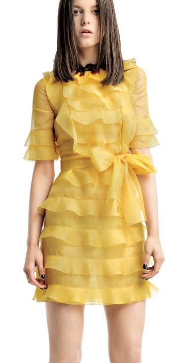abito giallo Valentino