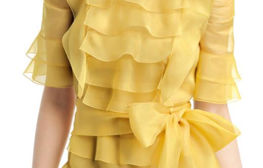 detail Valentino abito giallo