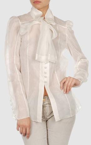 blusa bianca yoox
