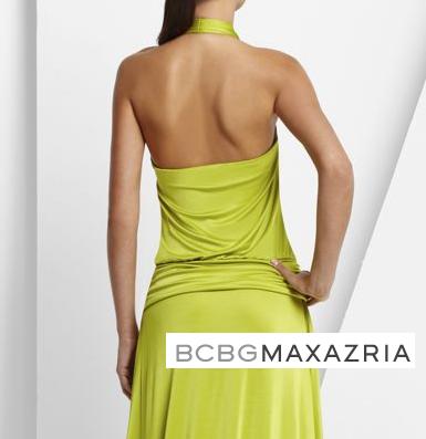 schiena abito verde