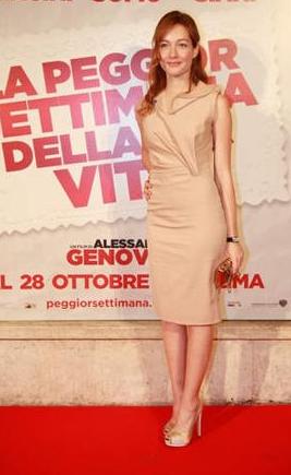 Roma Film Festival 2011: Cristiana Capotondi in scarpe Salvatore Ferragamo