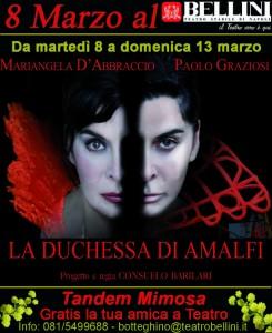 """""""La duchessa di Amalfi"""" al Teatro Bellini di Napoli"""