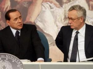 Silvio Berlusconi con Giulio Tremonti