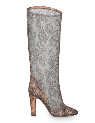 Valentino: stivali in pizzo nero trasparente, Collezione Autunno/Inverno 2011/2012