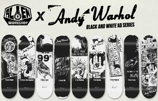 alien workshop andy warhol black white ad series 01