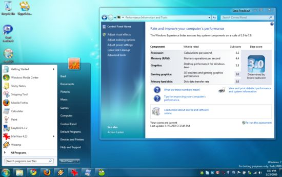 windows 7 xp