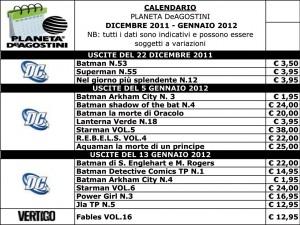 Calendario Planeta dicembre 2011 gennaio 2012 300x225