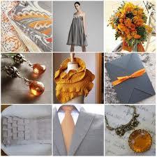 Decorazioni nuziali arancioni grigie e bianche