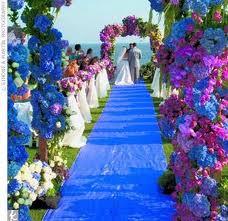 Decorazioni nuziali blu e viola