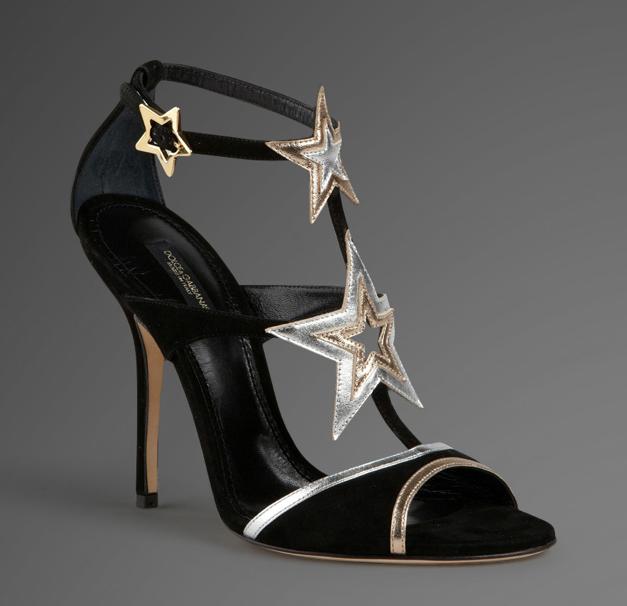 Dolce & Gabbana: Sandali con stelle color argento e oro, Collezione Autunno/Inverno 2011/2012