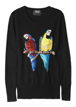 Markus Lupfer Sequined Parrot Sweater