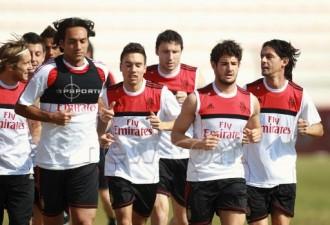 allenamento milan 2012 dubai