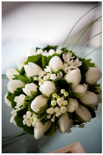 Bouquet di tulipani bianchi il bouquet della sposa for Disegni e prezzi del mazzo