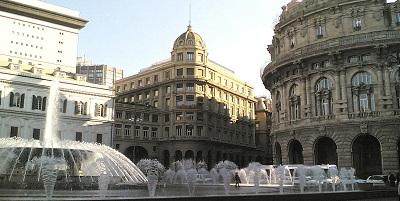 Genova Piazza De Ferrari angolo