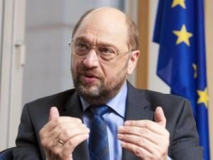 Il neopresidente del parlamento europeo, Martin Schultz