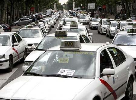 Una protesta dei tassisti