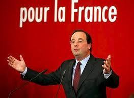 Il candidato socialista  François Hollande