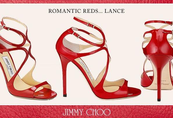 Jimmy Choo: Sandalo Lance in vernice dal color rosso, in occasione di San Valentino, Collezione Primavera/Estate 2012