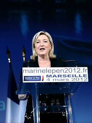 Marine Le Pen candidata all'Eliseo