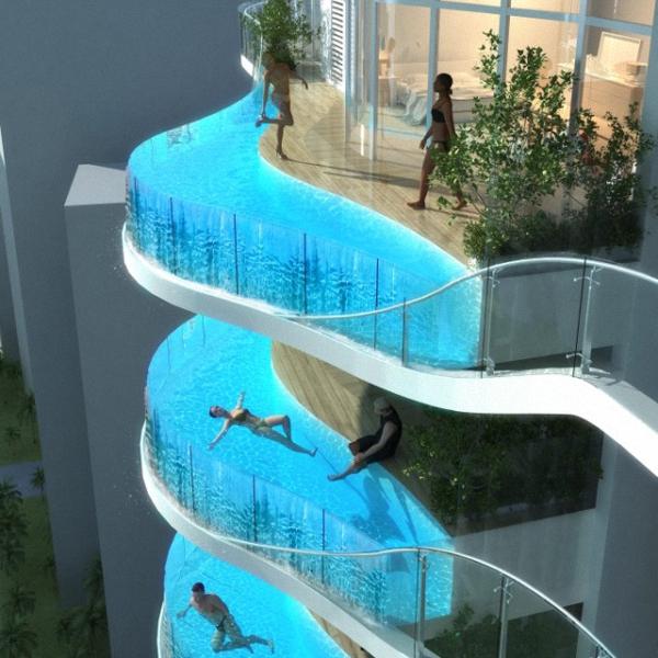 Glass Balcony Pools at Aquaria Grande Residential 0