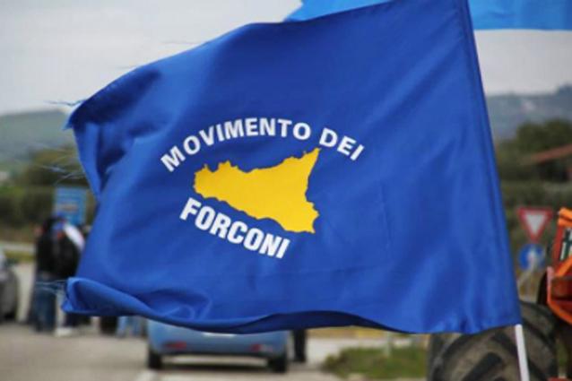 La bandiera del Movimento dei Forconi