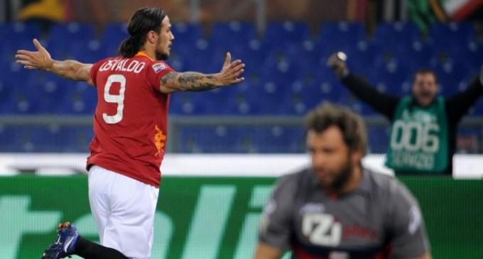 Roma: Osvaldo rompe il digiuno e sogna gli Europei