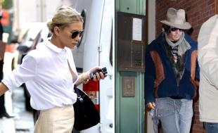 SM Ashley Olsen and Johnny Depp
