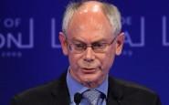Il presidente Ue, Herman Van Rompuy
