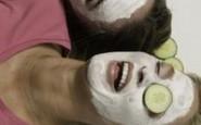 Maschera facciale allo yogurt