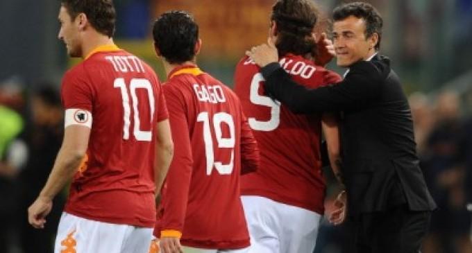 """Totti: """"Luis Enrique è un grande allenatore, vogliamo fare grandi cose con lui"""""""