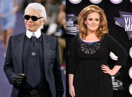 Adele e Karl Lagerfeld