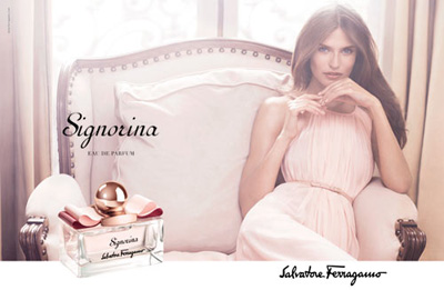 Bianca Balti for Salvatore Ferragamo Signorina Fragrance DesignSceneNet 00
