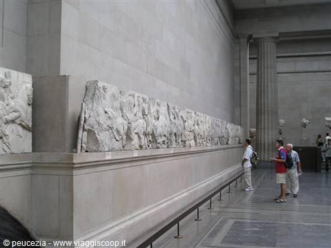 Il fregio del Partenone esposto al British Museum