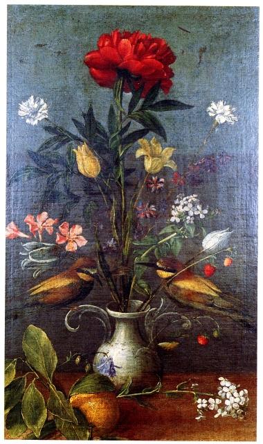 OMC Vaso di fiori e due uccelli