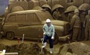 Gran Bretagna!Giapponese rende omaggio alle Olimpiadi con incredibili sculture di sabbia