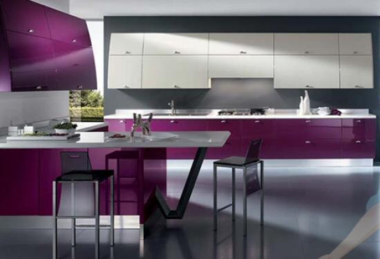 """Moderna ed eccentrica cucina Scavolini denominata """"Flux"""", lo stile ..."""