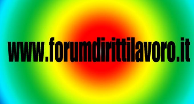 """Il """"forum diritti/lavoro"""" organizza convegno sulla """"ControRiforma del lavoro"""""""