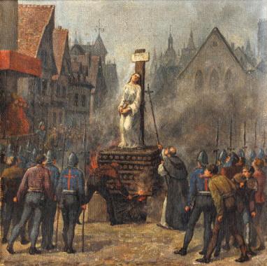 30 maggio 1431: Il rogo di Giovanna d'Arco