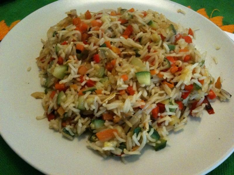 Ricette salate: insalata di riso basmati con ratatouille di ...