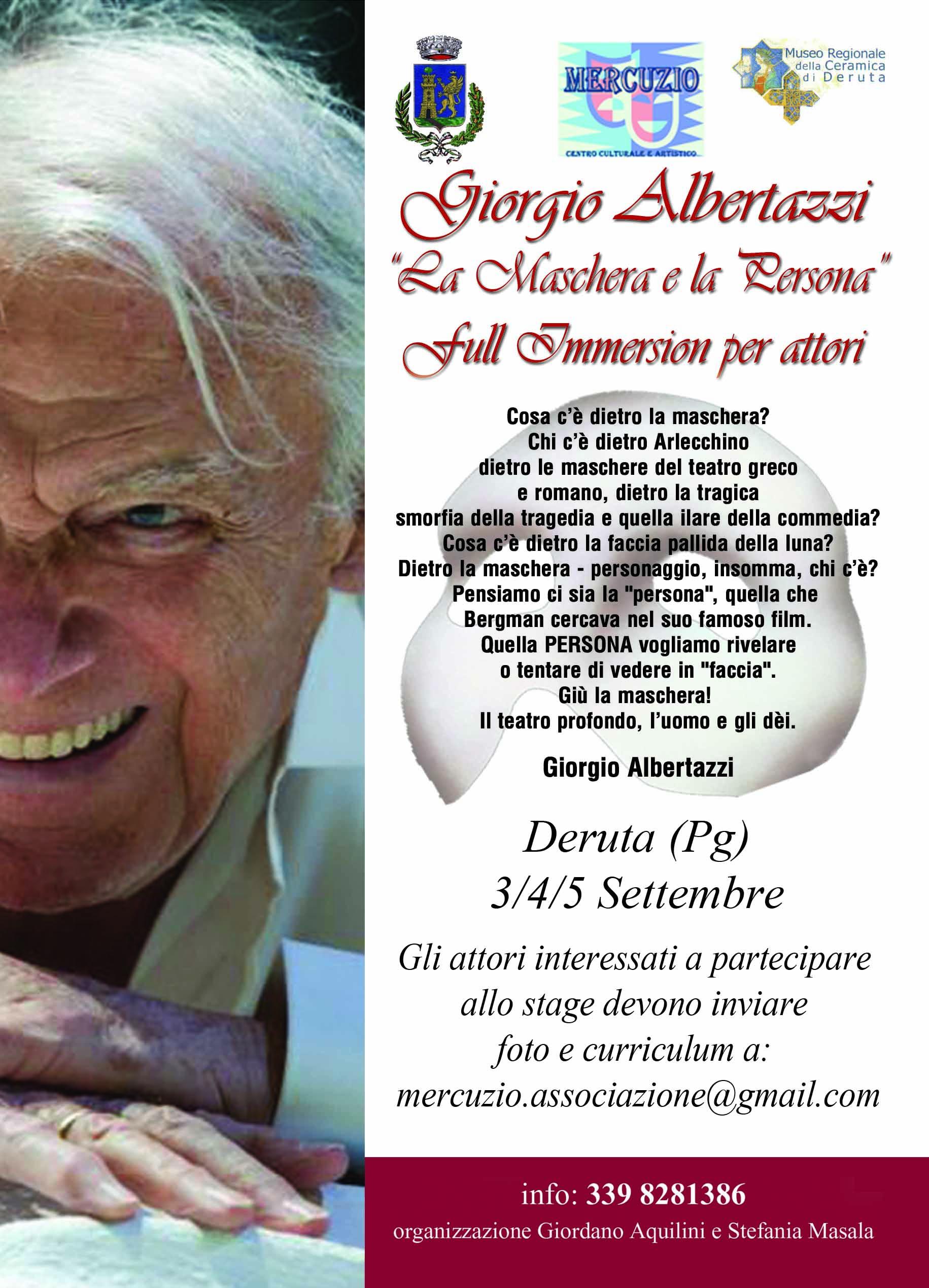 Giorgio Albertazzi   in  La Maschera e la Persona…3-4-5- settembre