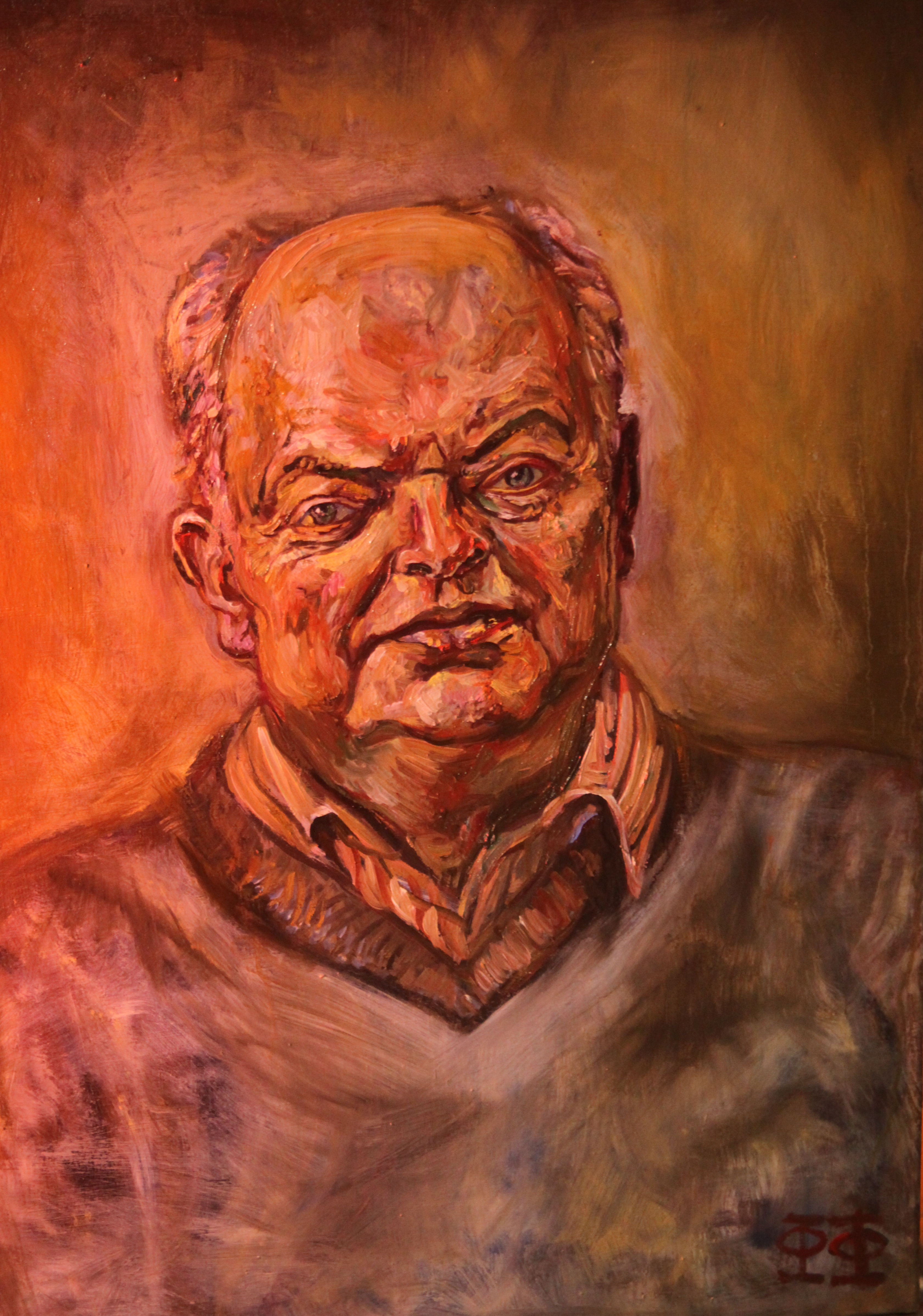 Portrait of Christopher Tew Oil on Canvas 20121