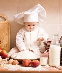 cuoco in erba bambino prodigio