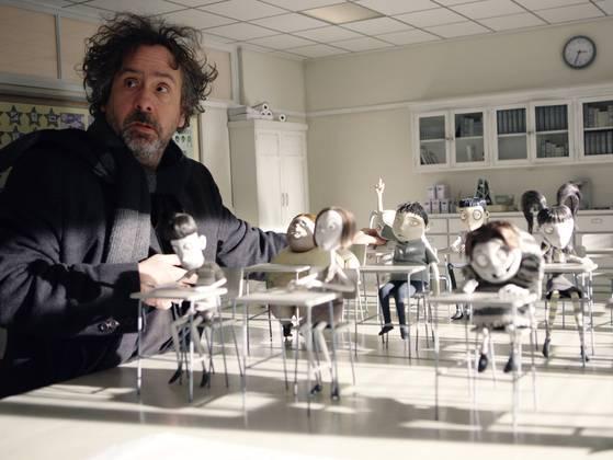 """Tim Burton durante la produzione di """"Frankenweenie"""""""