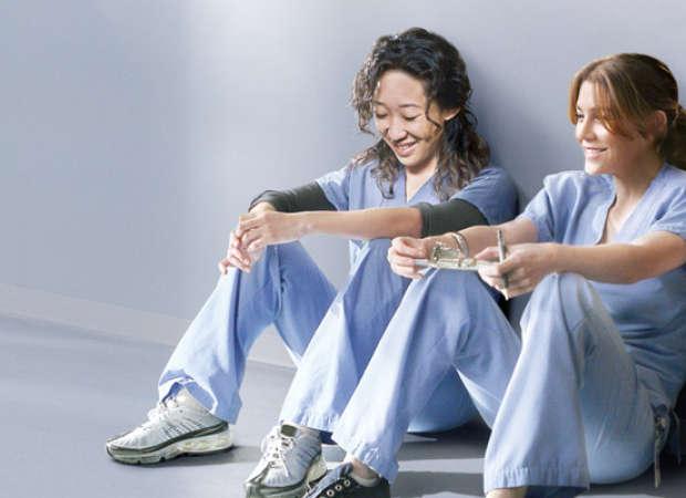 Sandra Oh ed Ellen Pompeo,protagoniste di Grey's Anatomy