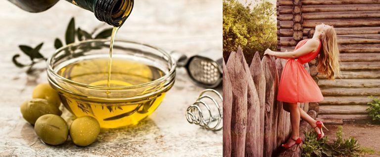 olio d'oliva - capelli
