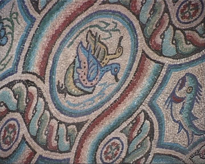 mosaico chiesa s.maria della croce oca